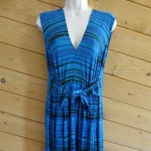 Plenty Tracy Reese Jersey M V-neck Dress Stripe